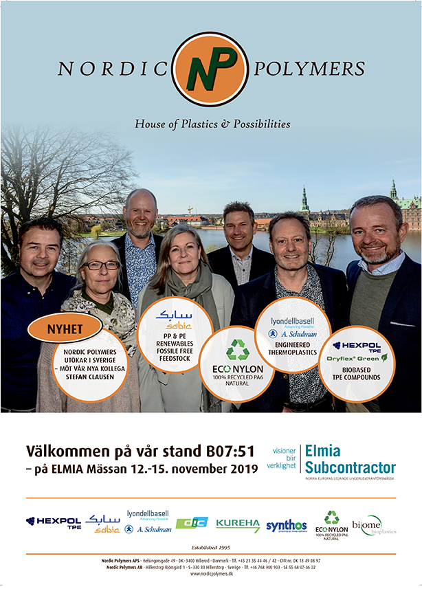 Elmia subcontractors Nordic Polymers